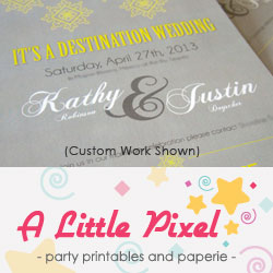 A Little Pixel - Party Printables