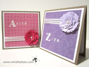Personalized 3D Flower Cards