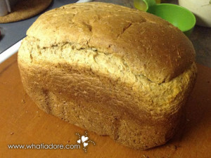 My Zojirushi breadmaker makes awesome whole wheat bread
