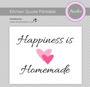 Kitchen Quote Free Printable