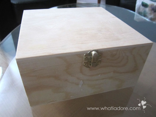 Diy jewellery keepsake boxes using wooden boxes and modpodge for How to make a ring box out of wood