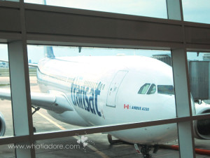 England Trip 2013: Our Air Transat Flights