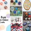 8 Fun Glass pebble crafts #DIY