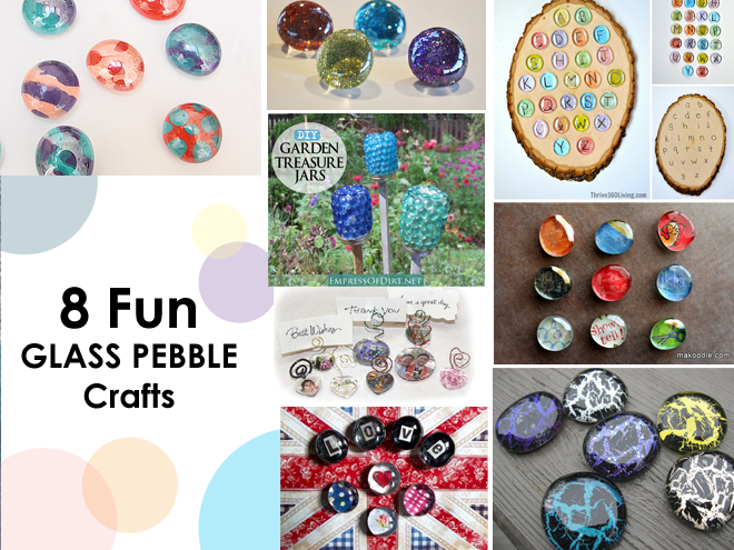 8 Fun Glass pebble crafts