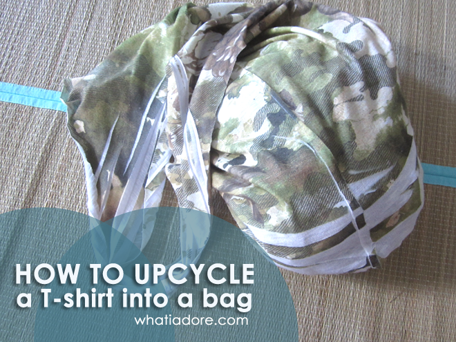 How to upcycle a T-shirt into a bag