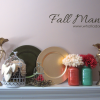 My Fall Mantel #fall #homedecor