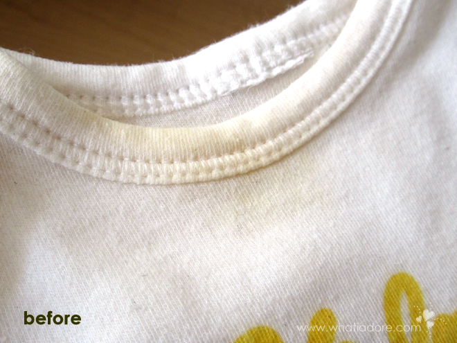 how to get rid of yellow stains on pillows